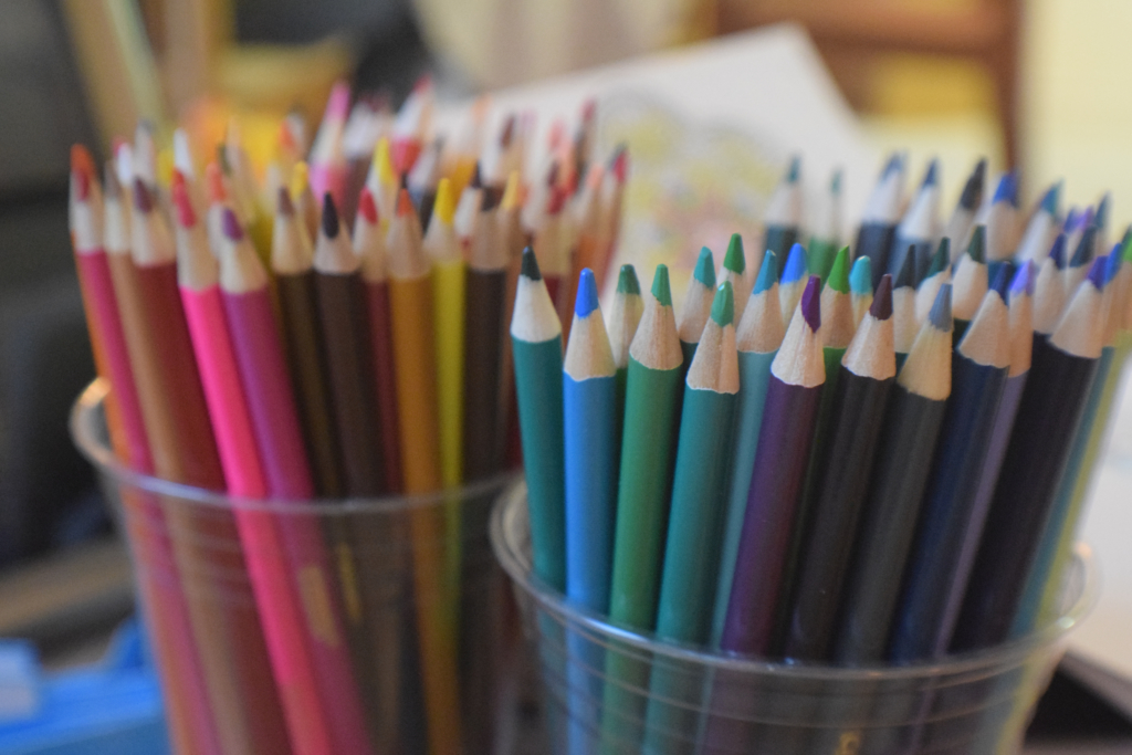 Colored pencils are one thing you can organize for your back to school classroom decor.