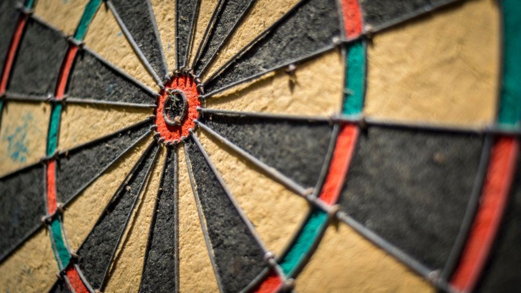 The bullseye, as shown here, is the perfect metaphor for kids understanding the learning objective of a lesson.
