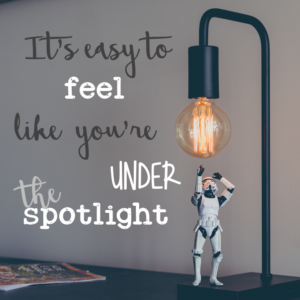 It's easy to feel like you're under the spotlight (like this stormtrooper) during parent teacher conferences