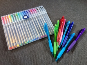 Colorful pens like these make showing one's math work a lot more fun!