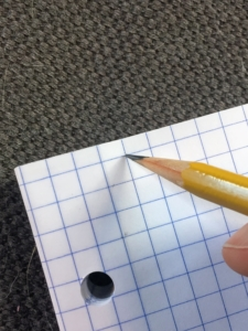 Counting boxes on graph paper can help students set up margins -- a key study skill for organizing their math work.