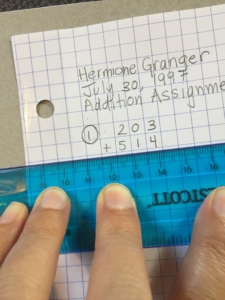Rulers are key to attaining the study skill of well-organized math work.