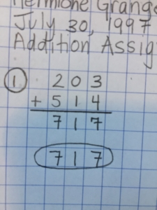 Rewrite and circle the answer when showing your work for simple computations.