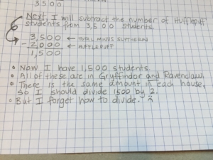Listing what you don't understand is part of showing one's work in math.