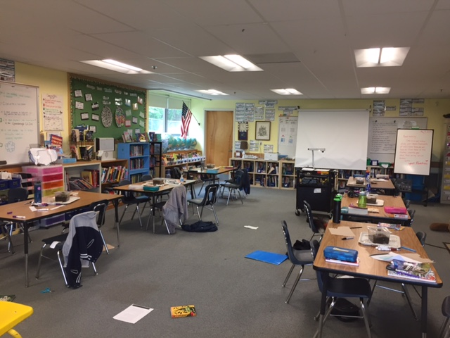An organized classroom doesn't have to mean sterile perfection. Our classroom gets pretty messy when we learn, but we always clean up!