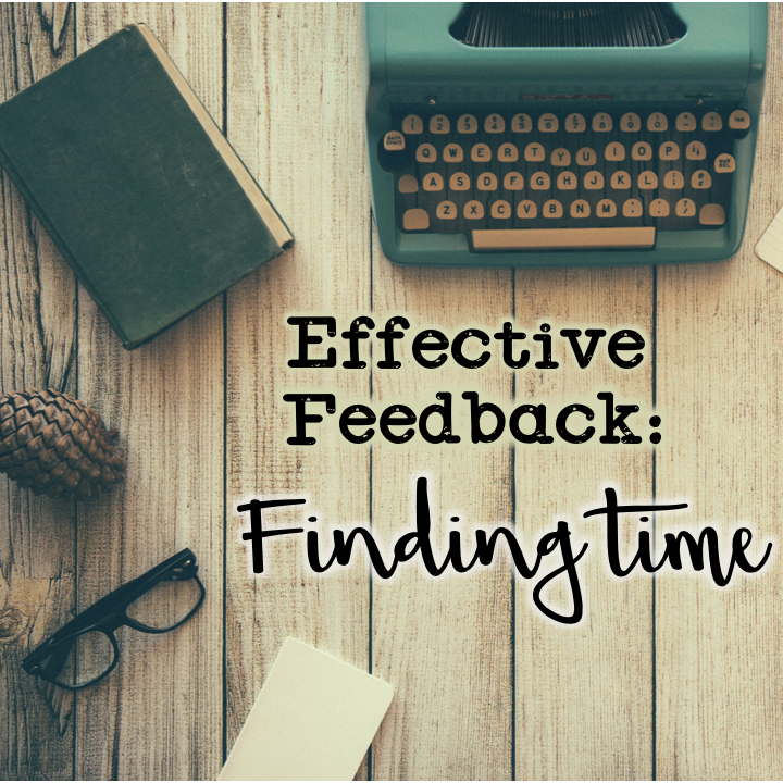 (Original photo Dustin Lee) Effective Feedback is about Finding Time.