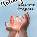 Holiday research projects for exploring diversity in the classroom. Hands holding twinkle lights.