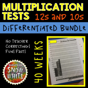 This are the weekly multiplication facts tests I use in my classroom each Friday.